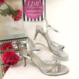 Silver BANDOLINI Strappy Dressy Sandals 7.5
